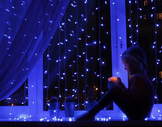 новогодняя гирлянда занавеска 200 ламп