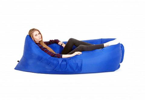 Биван оригинальный надувной диван цвет синий 200 х 90 см